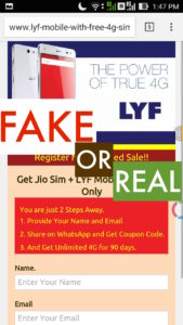 www.lyf-mobile-with-free-4g-sim.co.in frnt