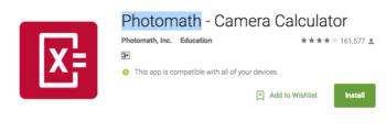 Photomath - Camera Calculator1