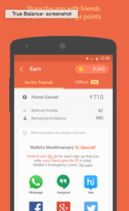 true balance app script refer and earn