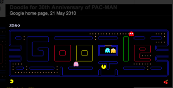 google hidden features pacman game