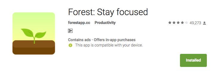 Forest App  10 best android apps  for productivity