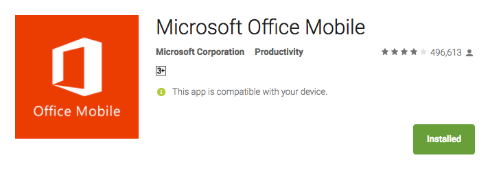 microsoft office for android  10 best android apps  for productivity
